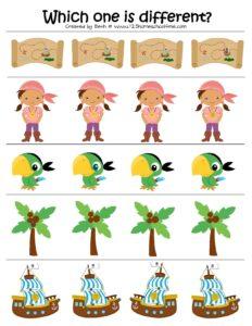 preschool which one is different worksheet