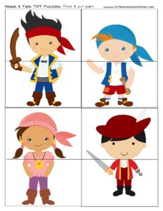 printable pirate puzzles for toddlers