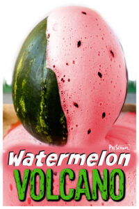WOW your kids with this Watermelon Volcano! This summer activity for kids is a great way to sneak in a science experient.