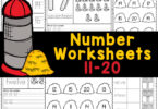 Grab these free printable number worksheets 11-20 to work on number recognition and count to 20 withnumbers printables for kindergarten.