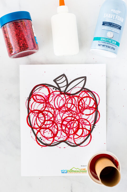 Apple Craft for Kindergarten