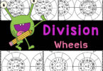 Division wheels are a fun way to practice how to divide 1-20 with elementary students using handy, no prep math division worksheets.