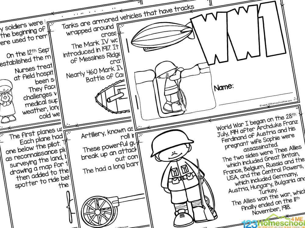 Facts about WW1 for kids