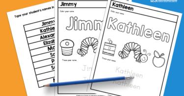 Name Tracing Sheets