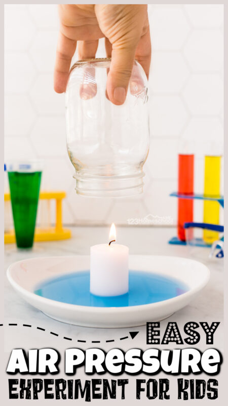 Get ready to WOW your kids with a super EASY science experiment for kids! This simple rising water experimentuses common household items to demonstrate a couple scientifc principles such as fire and oxygen as well asair pressure for kids. Thisburning candle in water experimentis fun for preschool, pre-k, kindergarten, first grade, 2nd grade, 3rd grade, 4th grade, 5th grade, and 6th graders. Olders students will benefit using the free printable burning Candle in Water Experiment Worksheetsas they explorewhy does the water rise in the candle experiment.