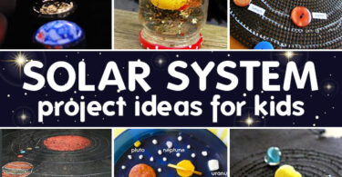LOTS of really fun and creative solar system projects for kids to try. These solar system project ideas are perfect for kids of all ages.
