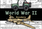 Learn about World War 2 for kids with free reader for history lessons. WW2 printables are filled with facts and coloring pages.
