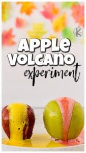 apple volcano science activities