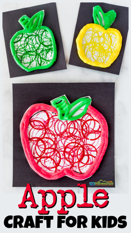 Really pretty, fun-to-make, EASY apple crafts for kids. Try thisfall craft for preschoolers and kindergarten in September.
