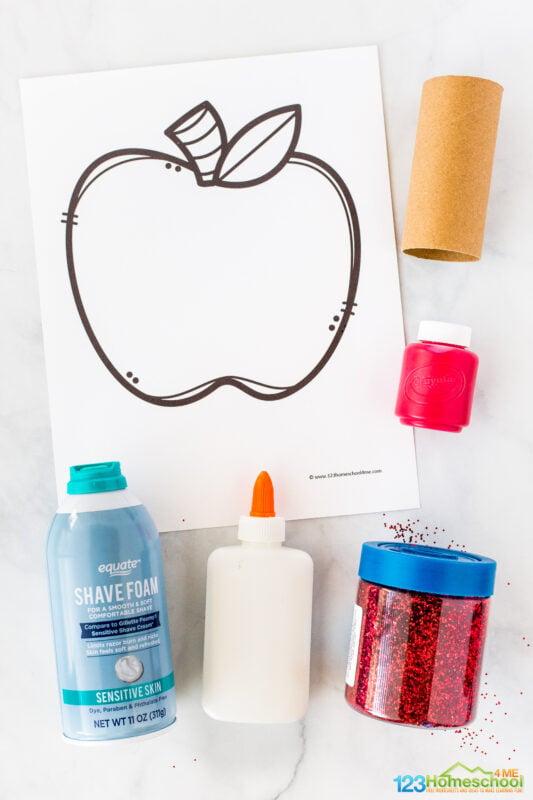 apple craft template