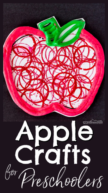 Looking for a really pretty, fun-to-makeapple craft? Thisapple craft for kids is not only aneasy apple craft, but cute and gret process art too. Try thisapple craft for kindergarten, first grade, 2nd grade, preschool, pre-k, and toddler children as September crafts,engagingapple art and craft for your upcoing Apple theme, or a fall craft for kids.