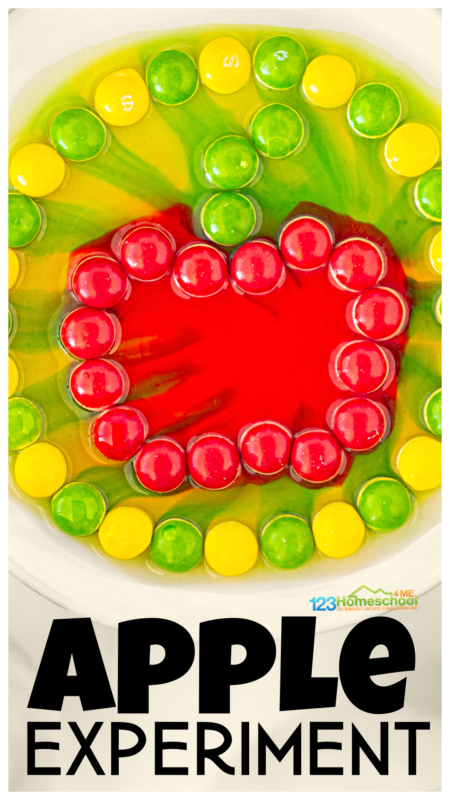 Amaze your kids with this colorfulapple scienceexperiment that is quick, easy, and the perfectapple activity for September.