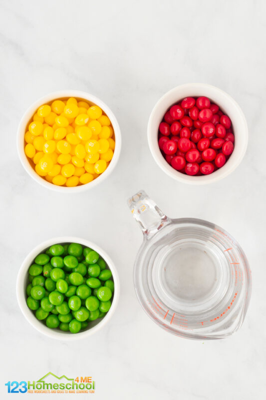 fall skittle candy science