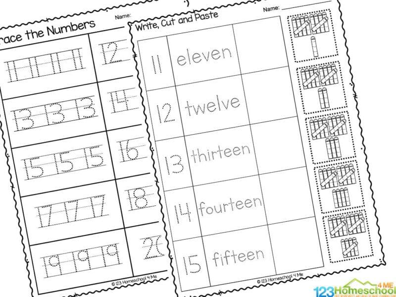 numbers 1 to 20 worksheet