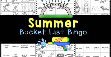 Clever summer bucket list bingo can be used as a list of fun ideas or as a game to play with friends. Print thesummer printables and play!