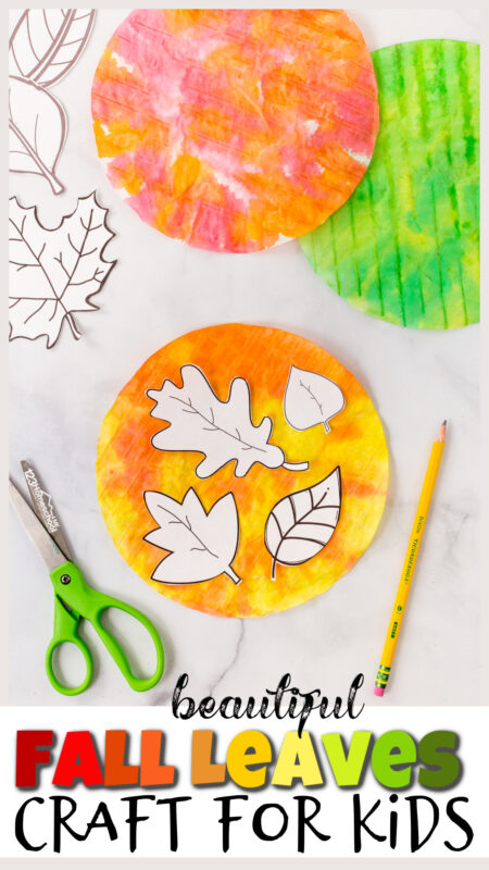 Celebrate the arrival of Autumn with this beautifulfall leaves craft! The simple, but stunningleaf craft uses the timelesscoffee filter leaf with a twist to create truly breaktakingleaf suncatchers! Try this gorgeouseasy fall crafts with toddler, preschool, pre-k, kindergarten, first grade, and 2nd graders too. Simply print thefall leaves printable, grab a couple simple materials, and let's get crafting!