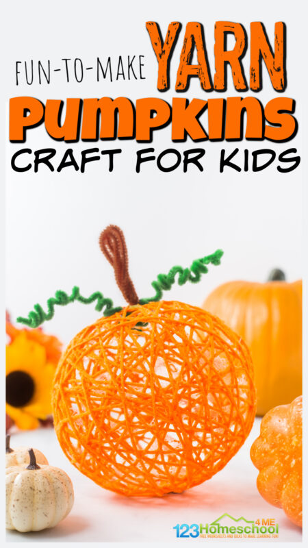 If you are looking for a really cutepumpkin arts and crafts to try in October, you will love these prettyyarn pumpkins. Thispumpkin craft for kids uses a simple technique with a balloon, orange yarn, and glue to make a lovely decoration this fall. Try this craft pumpkin ideas with preschool, pre-k, kindergarten, first grade, 2nd grade, 3rd grade or 4th graders.