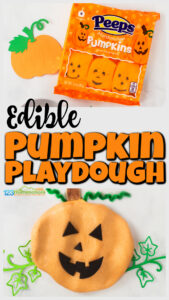 If you are looking for a quick and easypumpkin playdough recipe, you will love thisedible pumpkin play dough! Thisplaydoh uses marshmallow pumpkin peeps and is ready in under 5 minutes. Once you've made your play doh you are ready for lots of funpumpkin activities creating fall themed items, strenthening hand mucles, and snacking a little bit on the way too. Try thispumpkin activity for preschool, pre-k, toddler, kindergarten, and first graders in October.