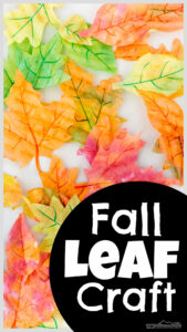 Celebrate Autumn with a beautifulfall leaves craft making simple, but stunningleaf crafts usingcoffee filters to make vibrant suncatchers!
