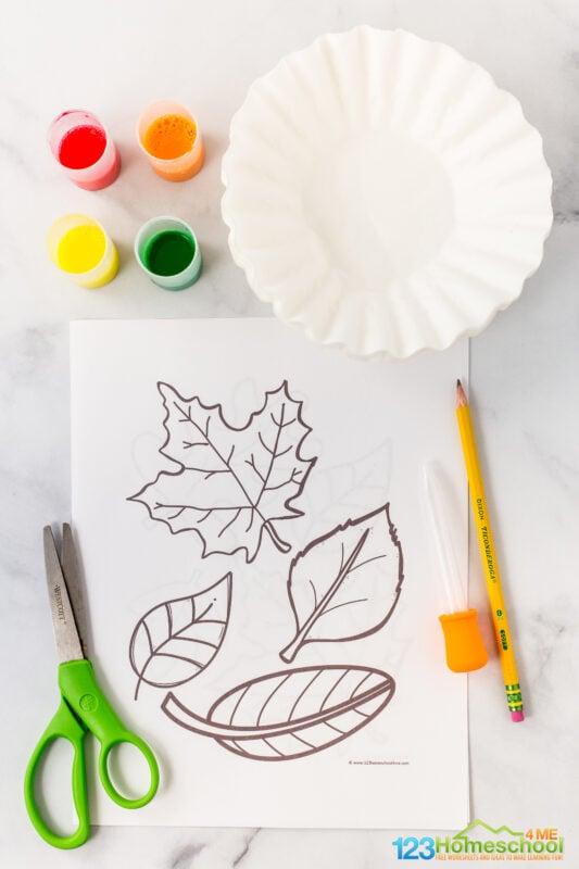 leaf printable template