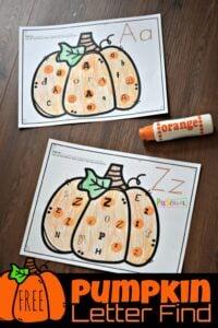 free pumpkin worksheets for preschool