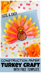 Even little kids can make a cuteturkey craft this Thanksgiving using our freeprintable turkey template. Thisconstruction paper turkey is perfect for toddler, preschool, pre-k, kindergarten, and first graders.Simply print ourthanksgiving crafts printable and follow our simple step-by-step instructions forhow to make a turkey craft and you are ready to make this simpleturkey craft ideas.