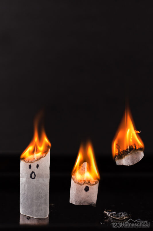 So why does this work? The fire causes the air around the tea bag to get hotter and hotter while the tea bag itself is getting lighter as it looses volume as it burns up. Between these two factors, they eventually reach a point where the air is warm enough for the tea bag to liftoff.