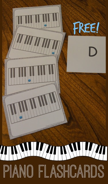 FREE Piano Flashcards - kids will have fun learning piano notes with these free printable piano flashcards for kids and adults of all ages learning to play the piano #piano #flashcards #music