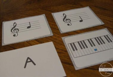 Free printable music flashcards perfect for kids taking piano lessons