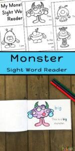 monster sight words reader