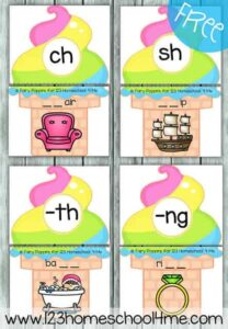 ice cream digraph game for summer learning