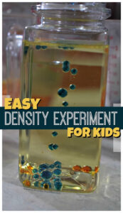 oil and water science experiment