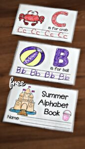 summer handwriting worksheets