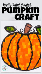 Grab some orange paint swatch samples, this pumpin template, scissors, and glue and you are ready to make a super cute pumpkin craft for kids. The different shades of orange create a truly beautiful fall craft for preschool, pre-k, toddler, kindergarten, first grade, 2nd grade, and 3rd graders. Simply print the free printable pumkin craft template and you are ready for this funpumpkin activities perfect for October, fall, Autumn, and harvest time.