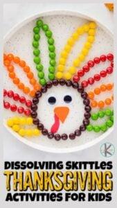 SKittle Turkey Science Thanksgiving-Activities