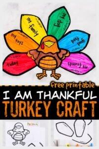 i am thankful Turkey-Paper-Craft