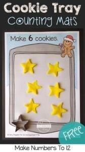cookie christmas playdough mats