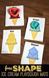 ice cream playdough mats
