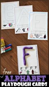 letter playdough mats